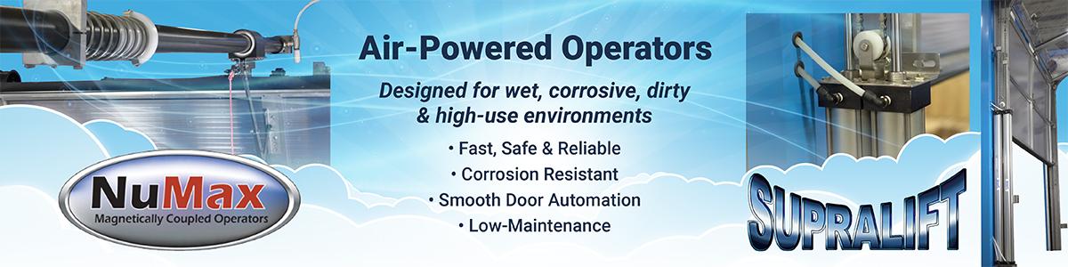 air powered garage door operators