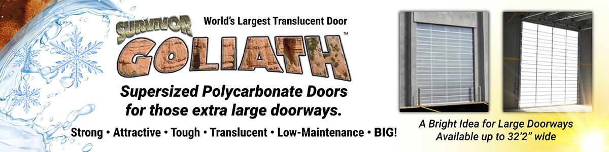 survivor goliath polycarbonate garage doors
