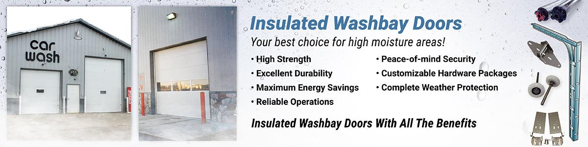 insualted washbay garage doors