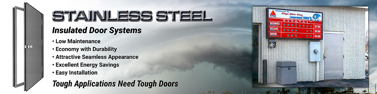 stainless steel insulated entry doors