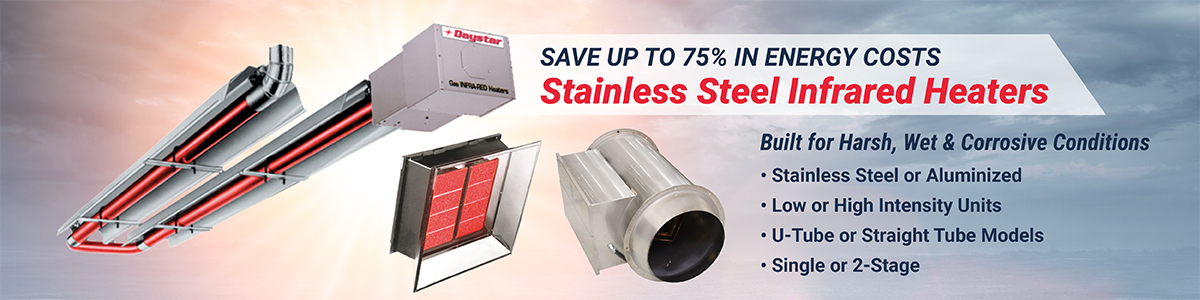 stainless steel infared heaters