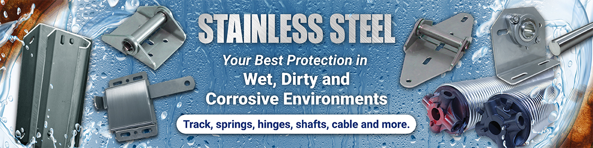 stainless steel garage door parts