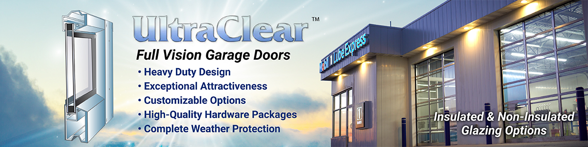 ultraclear doors full vision garage doors