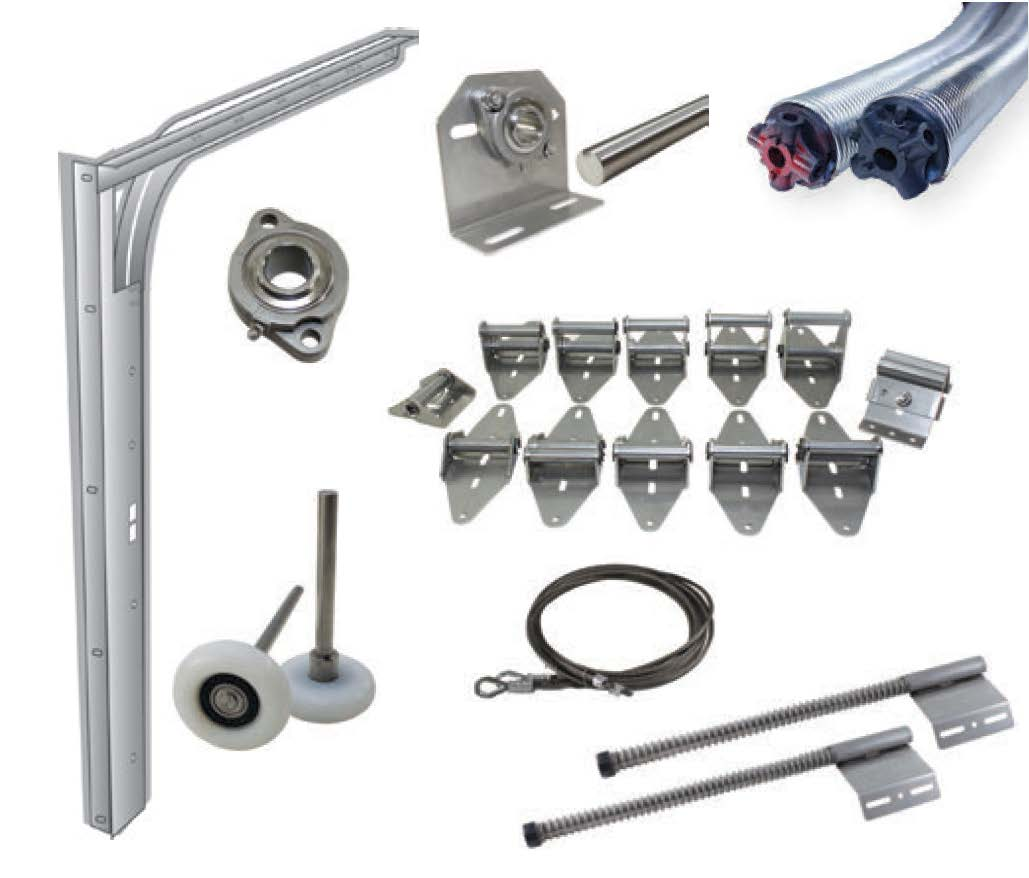 stainless steel garage door components